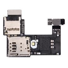SIM-kaart-aansluiting + SD kaart aansluiting voor Motorola Moto G (2nd Gen.) (Single SIM versie)