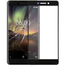 De Lens van het buitenste glas van de voorste scherm voor Nokia 6.1(Black)