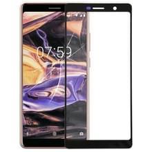 Voorste scherm buitenste glaslens voor Nokia 7 Plus(Black)
