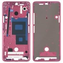 Front behuizing LCD frame bezel Plate voor LG G7 ThinQ/G710 (roze)