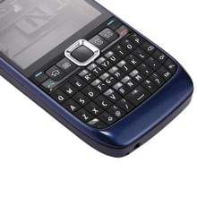 Full housing Cover (Front Cover + middelste Frame Bezel batterij Back Cover + toetsenbord) voor Nokia E63(Dark Blue)