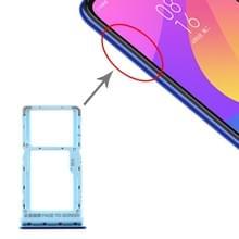 SIM-kaart lade + SIM-kaart lade/micro SD-kaart lade voor Xiaomi mi CC9e/mi a3 (blauw)