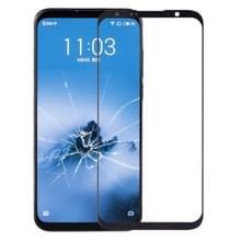 Voorkant scherm buitenste glazen lens voor Meizu 16 plus (zwart)