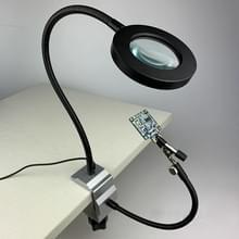 Aluminium Tafelklem soldeerbout houder soldeer station PCB armatuur met metalen arm & LED Vergrootglas