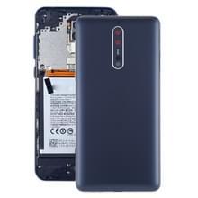Batterij achtercover met camera lens & Zijkleutels voor Nokia 8/N8 TA-1012 TA-1004 TA-1052 (blauw)