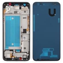 Front behuizing LCD frame bezel plaat voor LG K40/K12 + K12 plus/X4 2019 X420EM X420BMW X420EMW X420HM X420 X420N & #160; (zwart)