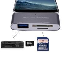 SD OTG COMBO-Adapter  3 in 1 USB-C / Type-C naar USB 3.0 + Micro SD kaartlezer voor Tablet  Smartphone  PC