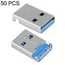 50 stuks unieke lassen plaat 90 graden 9 Pin USB 3.0 een mannelijke Jack Plug