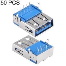 50 stuks 90 graden USB 3.0 AF Connector soldeer PAD materiaal SPCC