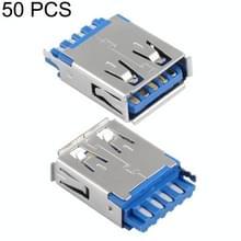 50 PCS 180 Degrees 9 Pin USB 3.0 AF Connector Solder Socket