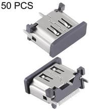 50 stuks nikkel Plating 19 pins vrouwelijke HDMI Connector aansluiting