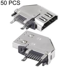 50 PCS 90 Degrees 19 Pin Female Side Plug HDMI Connector Socket