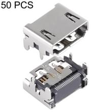 50 PCS 19 Pin HDMI Female DIP Jack Socket Connector