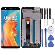 LCD-scherm en digitizer volledige assemblage met frame voor Asus ZenFone Live (L1) ZA550KL X00RD (Zwart)