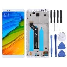 LCD-scherm en digitizer volledige assemblage met frame voor Xiaomi Redmi 5 plus (wit)