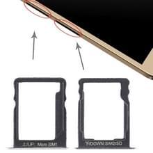 SIM-kaart lade + SIM-kaart lade/micro SD-kaart voor Huawei geniet 5s (zilver)