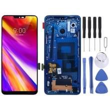 LCD-scherm en digitizer volledige montage met frame voor LG G7 ThinQ/G710 G710EM G710PM G710VMP (blauw)