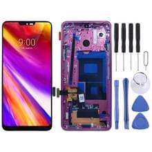 LCD-scherm en digitizer volledige montage met frame voor LG G7 ThinQ/G710 G710EM G710PM G710VMP (rood)