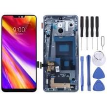 LCD-scherm en digitizer volledige montage met frame voor LG G7 ThinQ/G710 G710EM G710PM G710VMP (zilver)