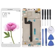 LCD-scherm en digitizer volledige montage met frame voor Xiaomi mi Max (wit)