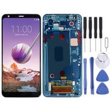 LCD-scherm en digitizer volledige assemblage met frame voor LG Stylo 4 / Q Stylo 4 / Q710 / Q710MS / Q710CS (Blauw)