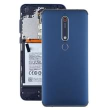 Batterij achtercover met camera lens & toetsen aan de zijkant & vingerafdruk sensor voor Nokia 6 1/6 (2018)/6 (2e generatie) (blauw)