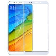 Voorkant scherm buitenste glazen lens voor Xiaomi Redmi 5 plus (wit)