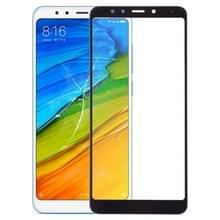 Voorkant scherm buitenste glazen lens voor Xiaomi Redmi 5 (zwart)
