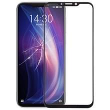 Front screen buitenste glazen lens voor Meizu X8 (zwart)