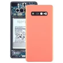 Batterij achtercover met camera lens voor Galaxy S10 PLUS (roze)