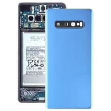 Batterij achtercover met camera lens voor Galaxy S10 PLUS (blauw)