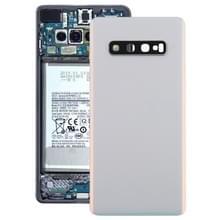 Batterij achtercover met camera lens voor Galaxy S10 PLUS (wit)
