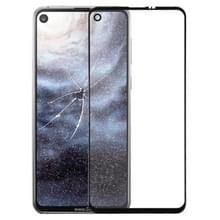 Front screen buitenste glazen lens voor Galaxy A8s (zwart)