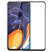 Front screen buitenste glazen lens voor Galaxy A60 (zwart)