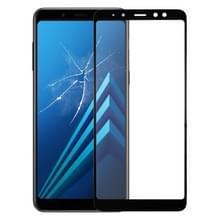 Lens van het buitenste glas van de voorste scherm voor Galaxy A8 (2018)(Black)