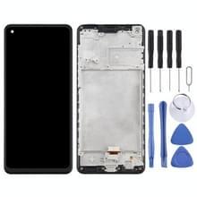 LCD-scherm en digitizer volledige assemblage met frame voor Samsung Galaxy A21s / SM-A217 (Zwart)