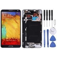 LCD-scherm en digitizer volledige montage met frame & toetsen aan de zijkant (TFT-materiaal) voor Galaxy Note 3/N9005 (3G-versie) (zwart)