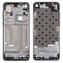 Front Housing LCD Frame Bezel Plate voor Motorola Moto One Vision (Zwart)