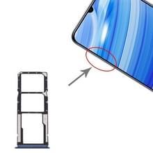 SIM Card Tray + SIM Card Tray + Micro SD Card Tray for Xiaomi Redmi 10X 4G(Blue)