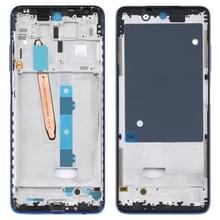 Front Housing LCD Frame Bezel Plate voor Xiaomi Poco X3 / Poco X3 NFC M2007J20CG / M2007J20CT (Blauw)