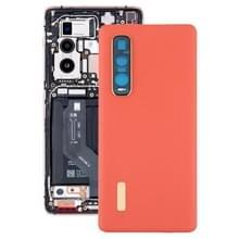 Originele lederen materiaal batterij achterkant voor OPPO Vind X2 Pro CPH2025 PDEM30 (Oranje)