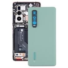 Originele lederen materiaal batterij achterkant voor OPPO Vind X2 Pro CPH2025 PDEM30 (Groen)
