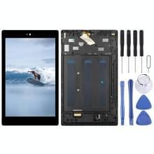 LCD-scherm en digitizer volledige assemblage met frame voor Amazon Fire HD 8 (2018) 8th Gen L5S83A (Zwart)
