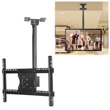 32-65 inch universele hoogte & hoek verstelbaar enkel scherm TV wandmontage plafond dual-use beugel  intrekbaar bereik: 0.5-2m