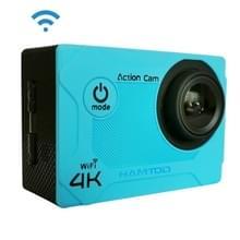 HAMTOD S9 UHD 4K WiFi Sport Camera met waterdichte behuizing  Generalplus 4247  2 0 inch LCD-scherm  170 Graden Groothoeklens (Blauw)
