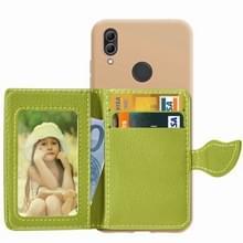 Blad gesp Litchi textuur kaarthouder PU + TPU Case voor Xiaomi Redmi Note 7  met kaartsleuf & houder & portemonnee & fotolijstjes (groen)