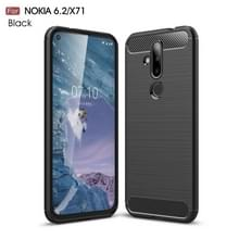 Brushed Texture Carbon Fiber TPU Case for Nokia 6.2 / X71(Black)