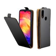 Zakelijke stijl verticale Flip TPU lederen tas met kaartsleuf voor Xiaomi Redmi opmerking 7 (zwart)