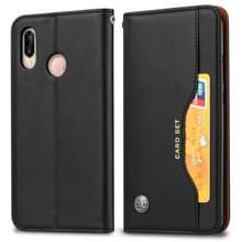 Knead huidtextuur horizontale Flip lederen case voor Xiaomi Redmi Note 7 & 7 Pro  met foto frame & houder & kaartsleuven & portemonnee (zwart)