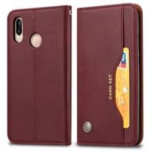 Knead huidtextuur horizontale Flip lederen case voor Xiaomi Redmi Note 7 & 7 Pro  met foto frame & houder & card slots & portemonnee (wijn rood)